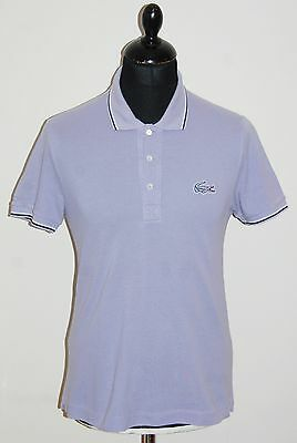 mens lilac LACOSTE short sleeved t-shirt top size 2 XS