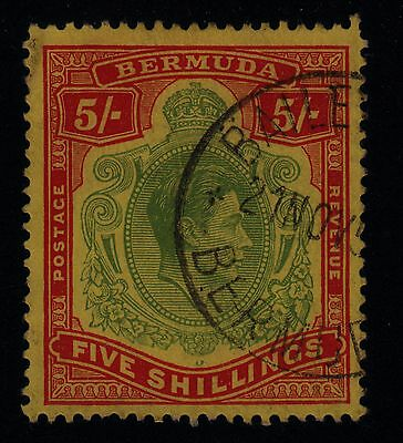 BERMUDA #125 Used 5sh Red & Green PERF 13 SCV $15.00