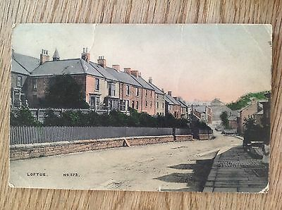 Postcard house street at Loftus by Brittain & Wright