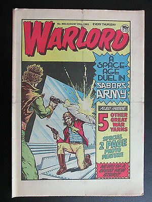 WARLORD.  NO.465.  AUG 20th, 1983. LOVELY.  UNSOLD NEWSAGENTS STOCK.