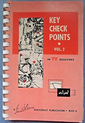 VTG 1956 Key Check Points In TV Receivers Vol. 2 Photofact-First Edition KCP-2