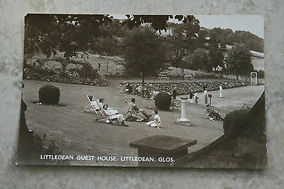 "Real Photographic Postcard ""Littledean Guest House"" Gloucestershire"