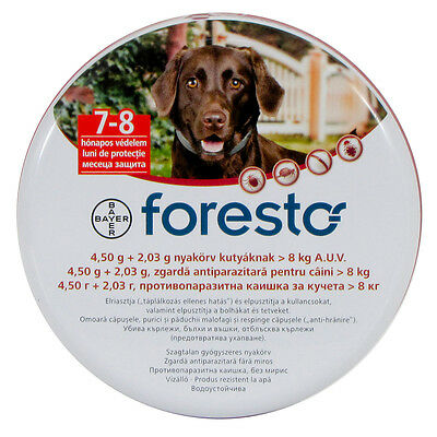 1Seresto/Foresto Flea & Tick Collar for Large Dogs 18lbs(8kg) 7 Weeks & Up Old