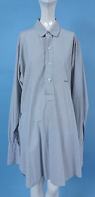 Vintage 1940'S Blue Men'S Shirt W Monogram Embroidery As Found