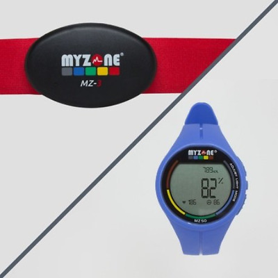 MYZONE MZ-3 Physical Activity Belt and Watch Blue