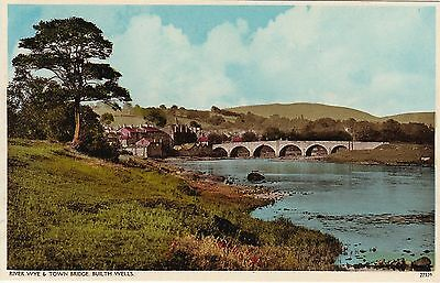 River Wye & Town Bridge, BUILTH WELLS, Breconshire