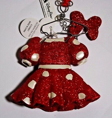 Disney Parks Minnie Mouse Costume on Hanger Christmas Ornament Dress