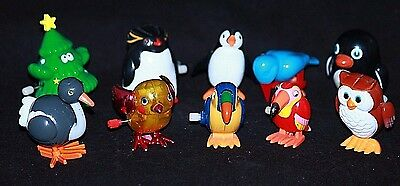 TEN (10) Assorted Windup Toys, Penguins, Chick, Owl, Ostrich, Toucans FUN!!