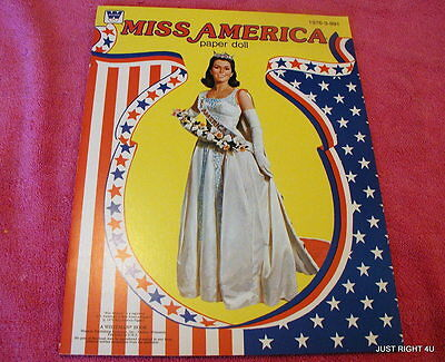 1979 Whitman (Miss America) PAPER DOLL BOOK UNCUT Exc