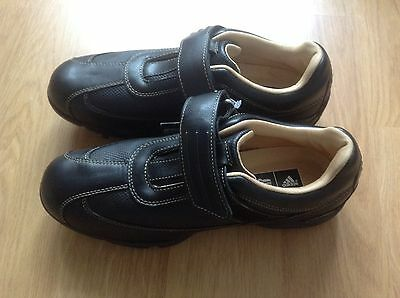 Ladies Golf Shoes Size 5 Adidas Black Leather New