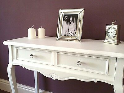 New White Console Hall Table Modern French Style Wood Bedroom Vanity Tables
