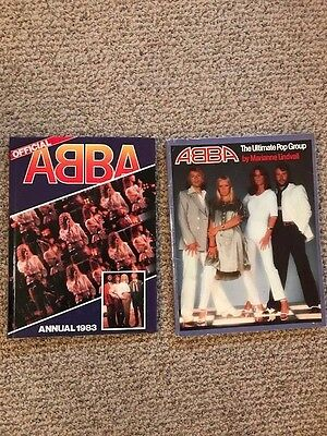 2X ABBA SOFTCOVER BOOK THE ULTIMATE POP GROUP VINTAGE 1977 + Official ABBA 1983