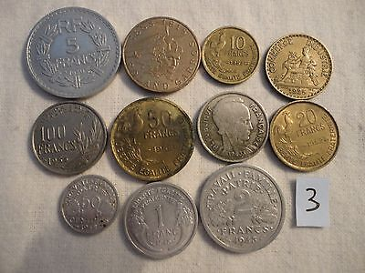 Coin Lot Collection,france 1924-1988,old ,combined Shipping,1,5,10,50,100 Francs