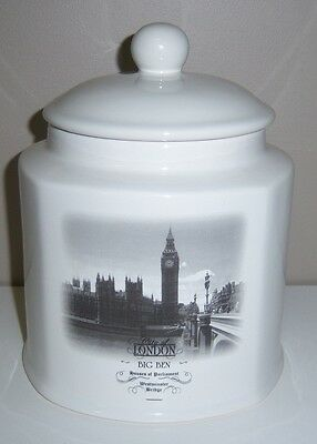 City Of London Big Ben Houses Of Parliament Cookie Jar, Biscuit Jar By Designpac