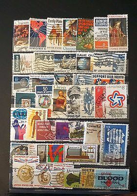 USA UNITED STATES Lot of 41 OLD COMMEMORATIVE Stamps 6-cent 8-cent values   #38