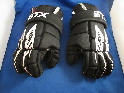 """STX Lacrosse Gloves STINGER 10"""" Small Good Used Condition"""
