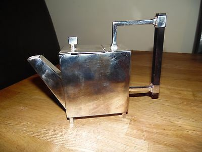 Christopher Dresser Square Form Teapot, With Ebony Handle