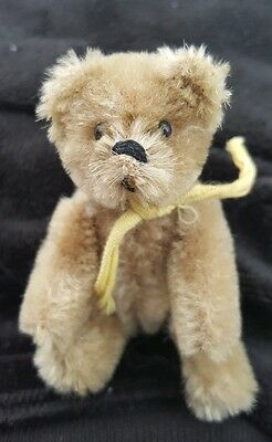 Sale Antique Steiff Miniature Mohair Teddy Bear Fully Jointed No Button 1920's