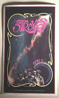 "STROKES,THE-MASSE & MACRAE HANDBILL COMMEMORATIVE PSTR SAMPLE;3 7/8"" x 6 1/4"";NM"