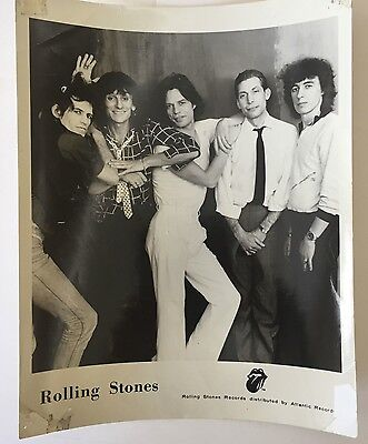 Rolling Stones-Sticky Fingers B/w Publicity Photo(Unsigned)Some Corner Wear.