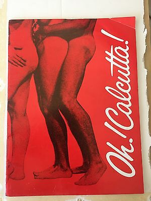 """oh Calcutta"" Playbill-Vintage Orig. Complete & In Tact.photos, Bios, Much More"