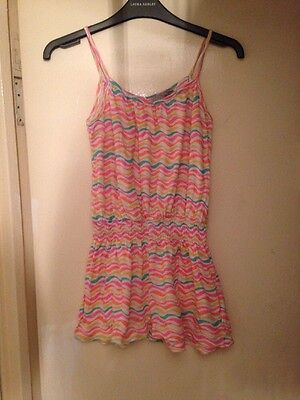 Girls 9-10 Years Stripped Playsuit
