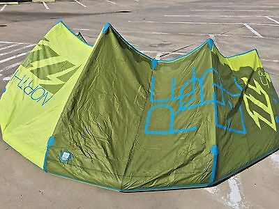 North Rebel Kiteboarding Kite 10m Complete with pump, bar and lines, leash, bag
