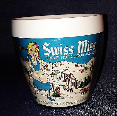 Vintage 1970s Swiss Miss Hot Chocolate Cocoa Mug Advertising Promo