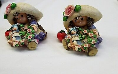Lot of 2 1994 Enesco Blossoms of Love to You Figurine