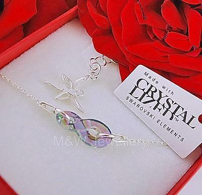 925 STERLING SILVER CHAIN BRACELET WITH SWAROVSKI Elements INFINITY PARADISE S*