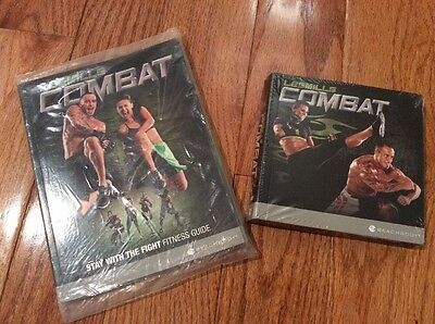 SEALED NEW Body Combat Beachbody 5 DVDs & Fitness & Nutrition Guides & Tape Meas