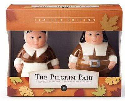 The Pilgrim Pair Original Collectible Salt & Pepper Shakers Limited Edition New