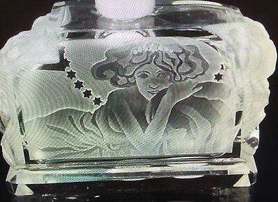 Pesnicak Perfume Bottle Rose Girl Czech Crystal Hand Cut
