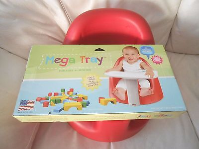 Gumdrop Mega infant ruby red Mega floor seat with snap-on play tray 4-16 months