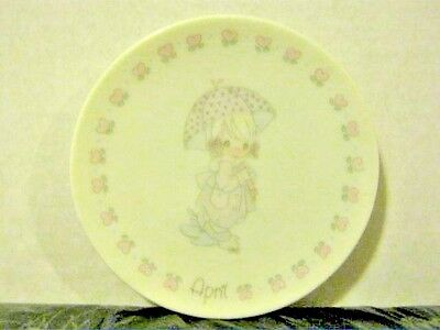 """Precious Moments 1988 April (made in Japan) 3 5/8"""" Plate"""