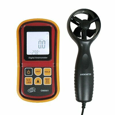 Anemometer, Topgio Digital Wind Speed Gauge Handheld Air Flow Velocity with for