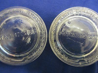 "Lot of 2 Vintage Clear Glass wire bail canning jar lids 3-1/8"" Quart"