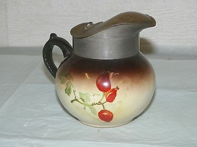 Late 1800s Warwick China Antique Syrup Server Pitcher