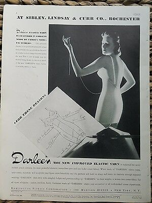 1937 Darleen women's one piece girdle bra garters Sibley Lindsay Curr fashion ad