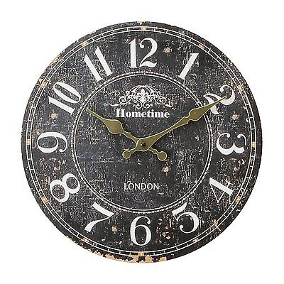 Large WALL CLOCK Vintage Style Antique Shabby Chic Distressed