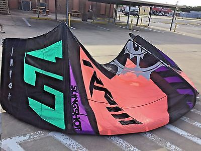 Slingshot RPM 14m kiteboarding kite with bag and bar and lines ready to fly now