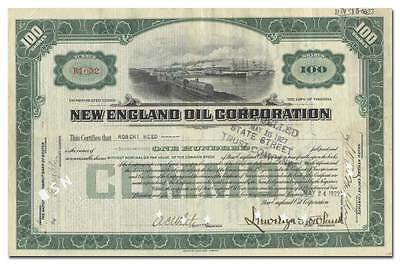 New England Oil Corporation Stock Certificate