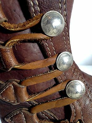 TRUE VINTAGE Buffalo Moccasin Boot Shoe Mukluk 6-7 Brown Nickel Crepe Sole
