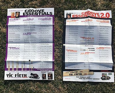 2 Vic Firth Funk Drum Posters Tommy Igoe Groove Essentials 1 & 2