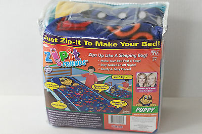 Zipit Friends Puppy Twin Size Zippered Blanket NIP