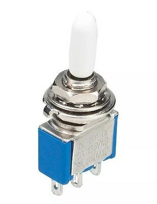 RadioShack 275-324 Mini SPST Toggle Switch 10A at 125VAC Green Red Yellow White