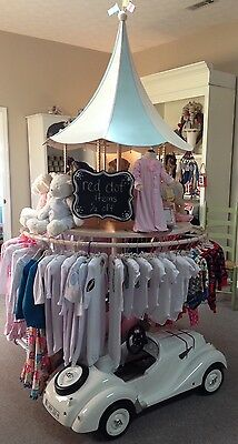 Corsican Children's Horse Carousel Clothing Rack Display store fixtures $4,000+