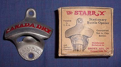 NIB USA Vintage STARR-X Canada Dry Bottle Opener Soda or Beer Bar FREE SHIPPING