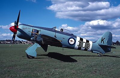 Original Aviation Aircraft Airline Slide Hawker Fury VH-HFG