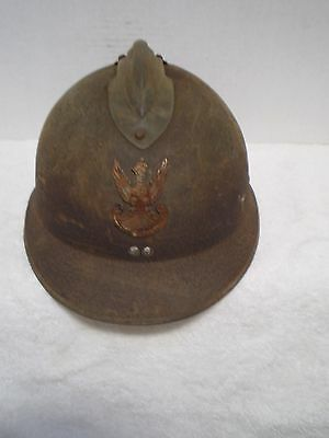 WW2 French M26 helmet with Polish badge, Poland